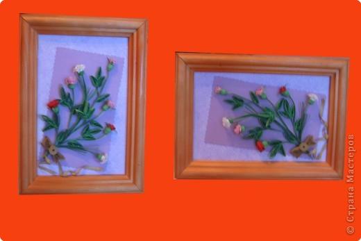Тюльпаны.   Моя самая первая работа, которую делала на курсах по квиллингу в Студии Бумажного Творчества в Санкт-Петербурге фото 5