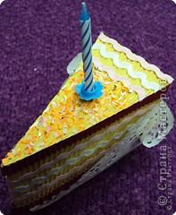 Мастер-класс Поделка изделие День рождения Аппликация Бумагопластика Квиллинг Торт с сюрпризом Бумага фото 10