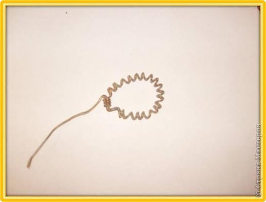 Материалы для урока: Проволока, стержень, бусинки, нитки мулине фото 12