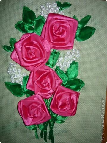 Вышивка: Розовое утро