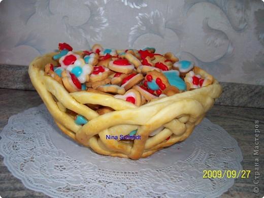 Корзинка с печеньем. фото 1