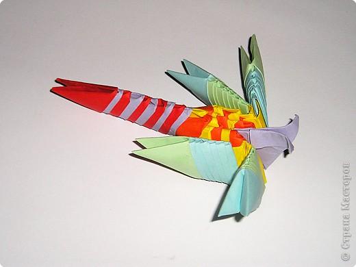 Стрекоза (первый опыт в освоении модульного оригами)