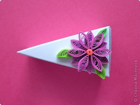 Мастер-класс Поделка изделие День рождения Аппликация Бумагопластика Квиллинг Торт с сюрпризом Бумага фото 5