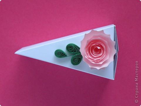 Мастер-класс Поделка изделие День рождения Аппликация Бумагопластика Квиллинг Торт с сюрпризом Бумага фото 6