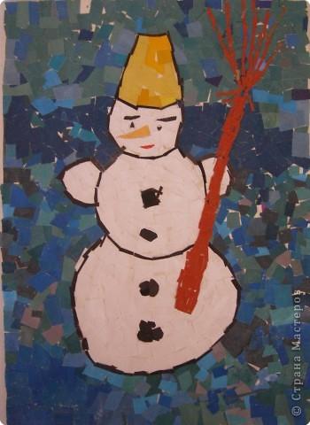 Мозаика: Снеговик