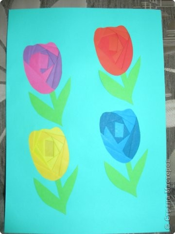 Айрис фолдинг: Тюльпаны