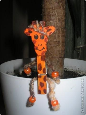 Жирафик на прищепке