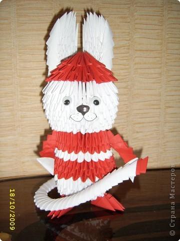 Оригами модульное: Заяц-пожарный