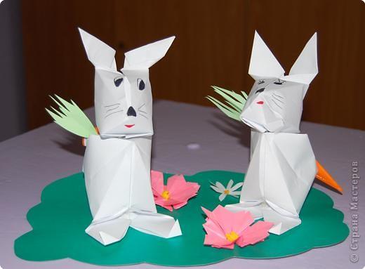 Оригами: Зайчики фото 1
