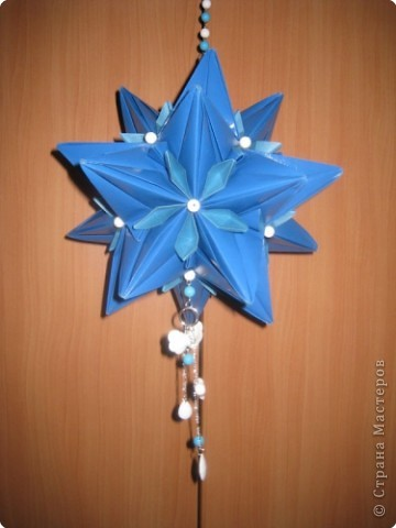 Кусудама: голубая звезда