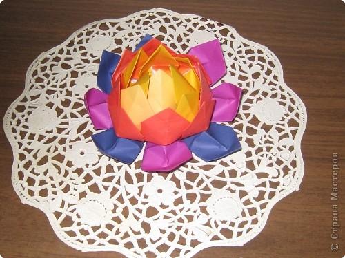 Оригами модульное: кувшинка фото 2