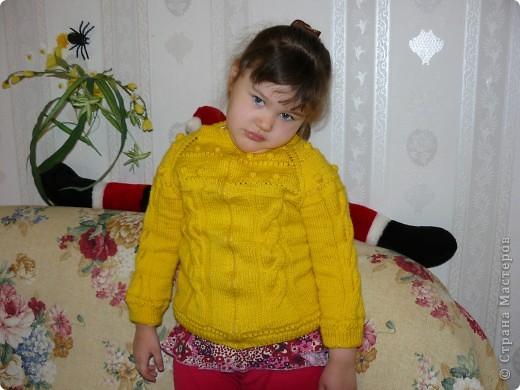 Вязание спицами: Кофточка для дочки