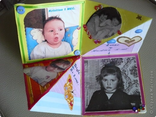 Скрапбукинг: Альбом-раскладушка фото 4