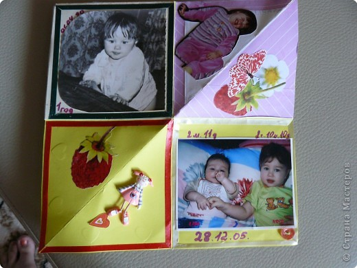 Скрапбукинг: Альбом-раскладушка фото 3