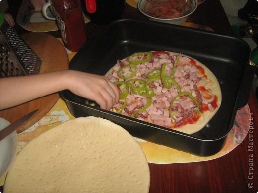 пицца от мини-шефа (доверила сыну кухню) фото 6