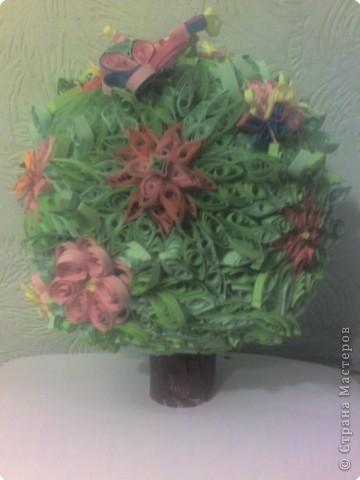 """""""Цветочки"""" Сыроежки вдохновили на вот такое деревце. Делали всей семьей фото 1"""