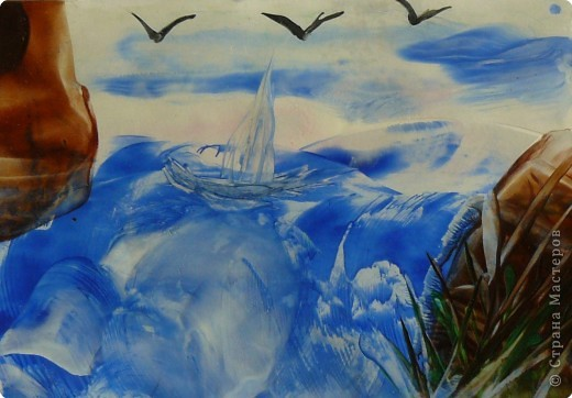 Энкаустика: Морской пейзаж