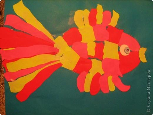 Аппликация: Золотая рыбка