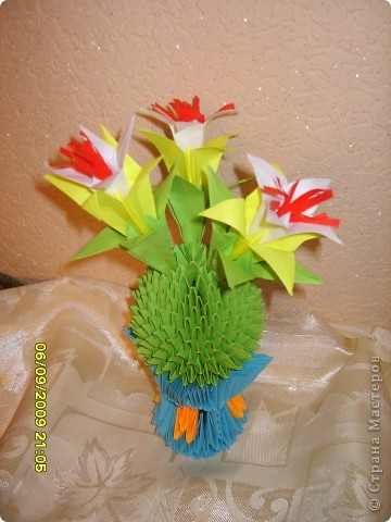 Оригами модульное: А вот и мой кактус!