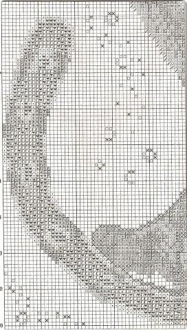 Вышивка крестом Лунный кот фото 6.