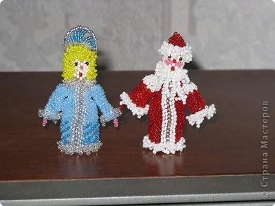Бисероплетение: Дед Мороз и снегурочка