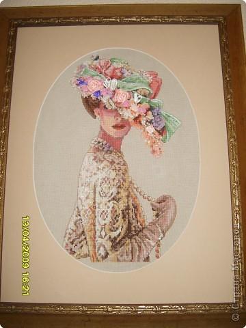 Вышивка: Элегантная леди