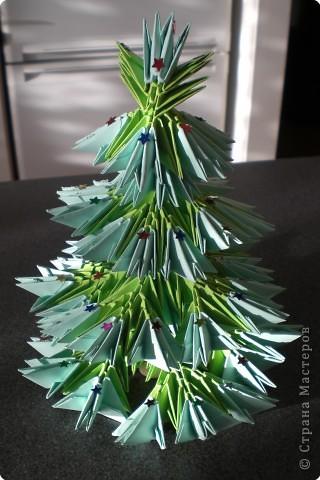 Оригами модульное: Ёлочка. фото 1