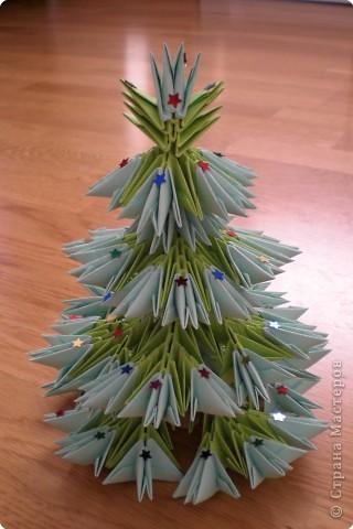 Оригами модульное: Ёлочка. фото 2
