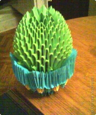 Оригами модульное: Мой кактусёнок.