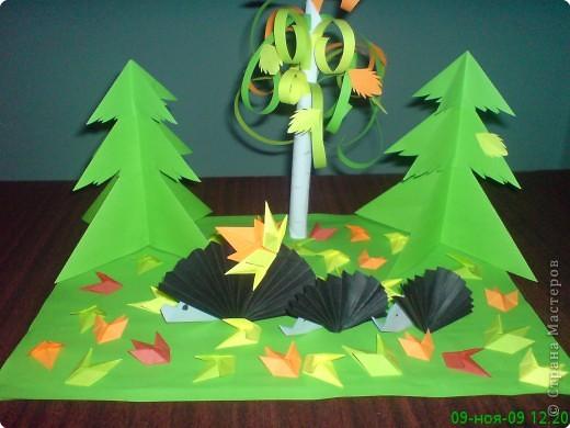 композиция ёжики на лесной поляне