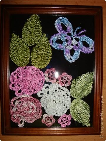 Вязание крючком: вязаные цветы  фото 1