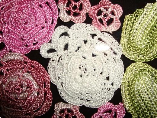 Вязание крючком: вязаные цветы  фото 4