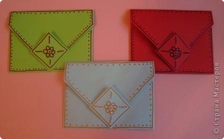 Оригами: Конвертик-кошелечек фото 1
