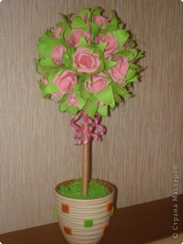 Бумагопластика: Розовое дерево. фото 1