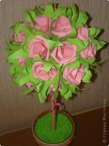 Бумагопластика: Розовое дерево. фото 2