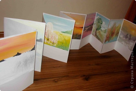 """Хочу показать одну из дочкиных работ. Работа была выполнена для школьной выставки """"Времена года"""".   Книжка-раскладушка """"12 месяцев"""".( Тогда дочке  было 15 лет) фото 2"""