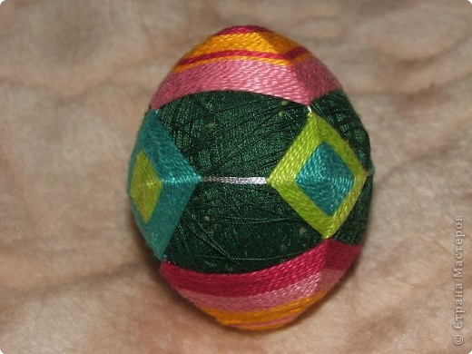 Пасхальные яйца темари фото 1