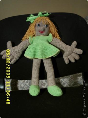девочки вот моя первая кукла Надюшка. Немогу убрать цифры с фотоаппарата.