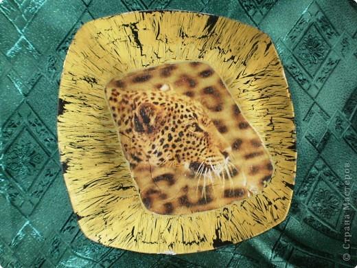 """""""Леопард"""" обратный декупаж"""