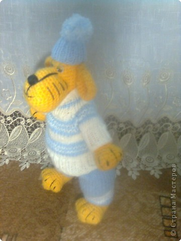 Вязание крючком, Вязание спицами: Тигр фото 2
