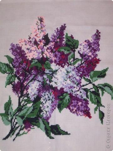 Вышивка крестом: букет сирени крестиком фото 2