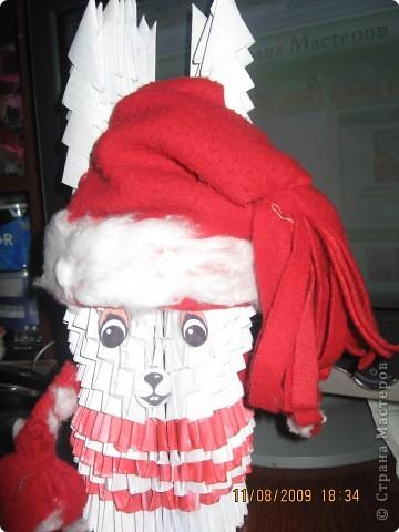 шапка, руки и мешок из ткани фото 2