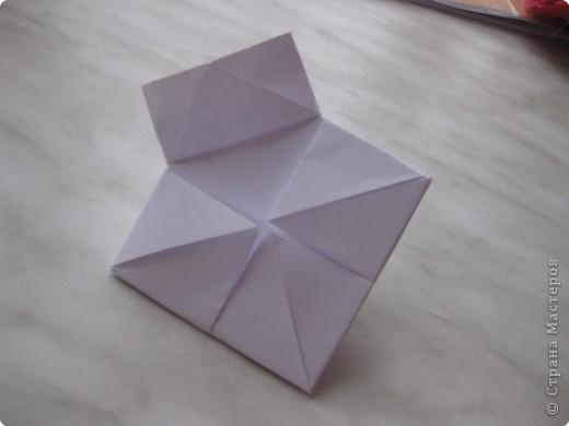 Нужно взять лис бумаги квадратной формы.В дужках я буду писать сказку (жил бедный селянин, был у него большой участок земли) фото 11