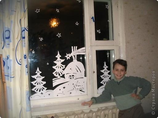 Так мы оформляли окошко в детской несколько лет назад.  фото 1