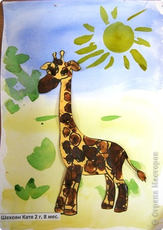 Люба за работой. У жирафа пятна, пятна, пятна, пятнышки везде…  фото 4