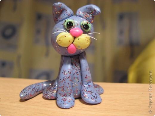Хотели научиться лепить тигренка... Получился новогодний котенок. фото 1