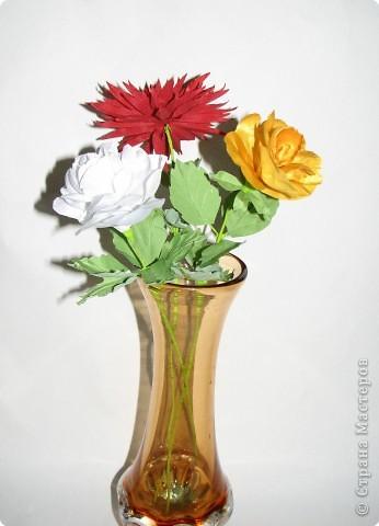 Нарядные георгины, изысканные розы,  и многие другие цветы можно сделать своими руками из ткани!!! фото 1