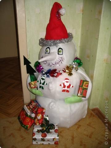Снеговик из синтепона фото 1