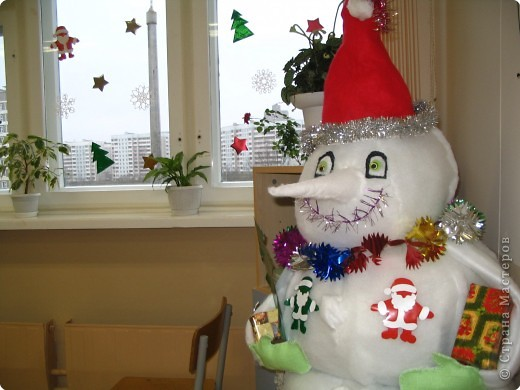 Снеговик из синтепона фото 3