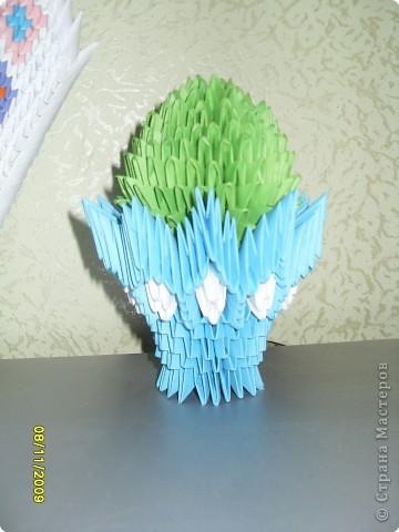 Оригами модульное: А вот и мой кактус....